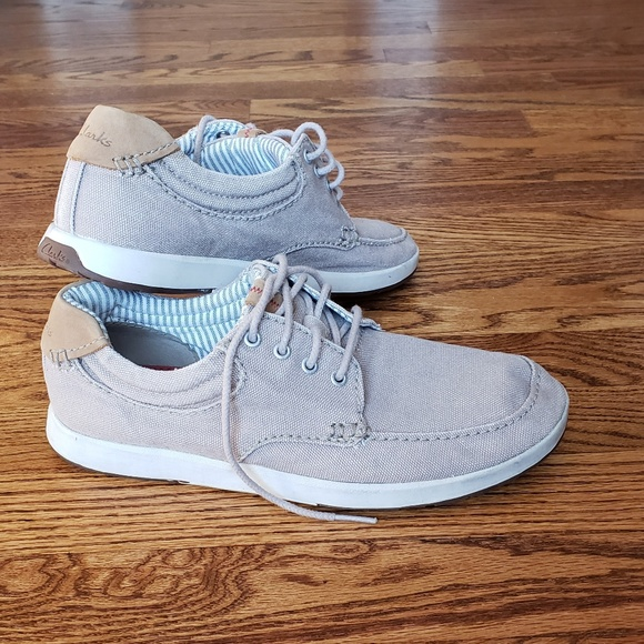 7cdb0ba14 Clarks Other - Clarks Men Norwin Vibe Canvas Boat Shoes Size 8